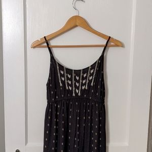 Old Navy Maternity Maxi Dress Tribal Embroidered S